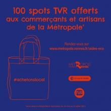 Soutien aux commerçants / artisans de Rennes Métropole - spot TVR